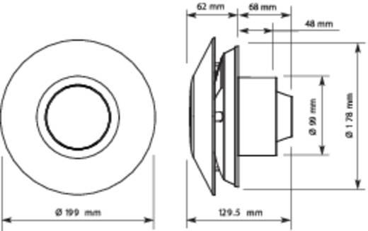 Sygonix 33925W Wand- en plafondventilator 230 V 75.6 m³/h 10 cm