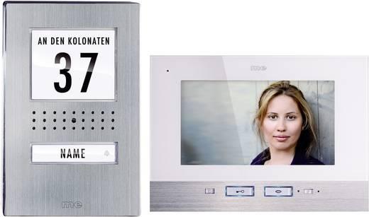 m-e modern-electronics Complete set voor Video-deurintercom Kabelgebonden 1 gezinswoning RVS, Wit