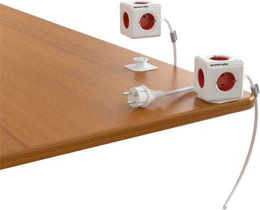 Segula 50450 Stekkerdoos zonder schakelaar 5-voudig Randaarde stekker Wit, Rood