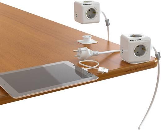 Segula Powercube USB Stekkerdoos zonder schakelaar 4-voudig Randaarde stekker Wit, Grijs