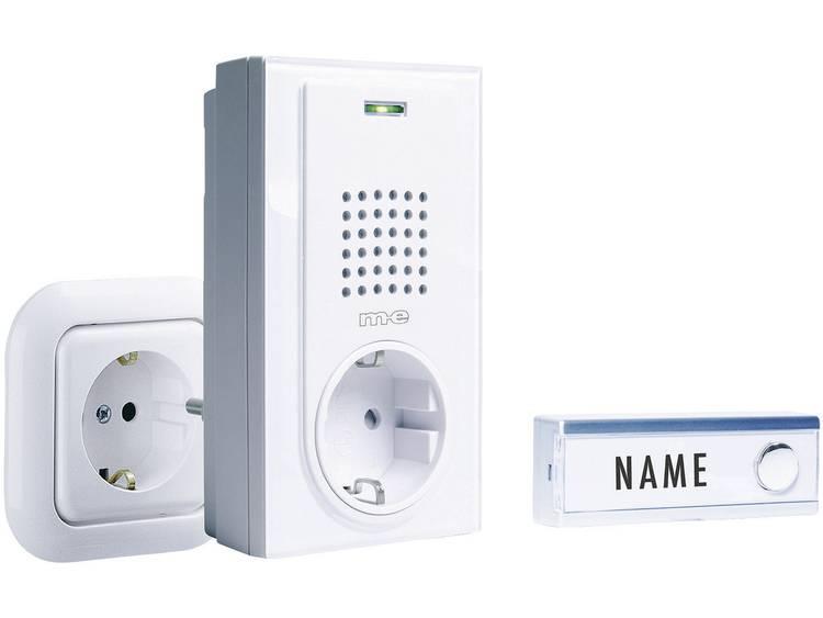 Complete set Draadloze deurbel met naambord m-e modern-electronics FG-2.2 FG-2.2