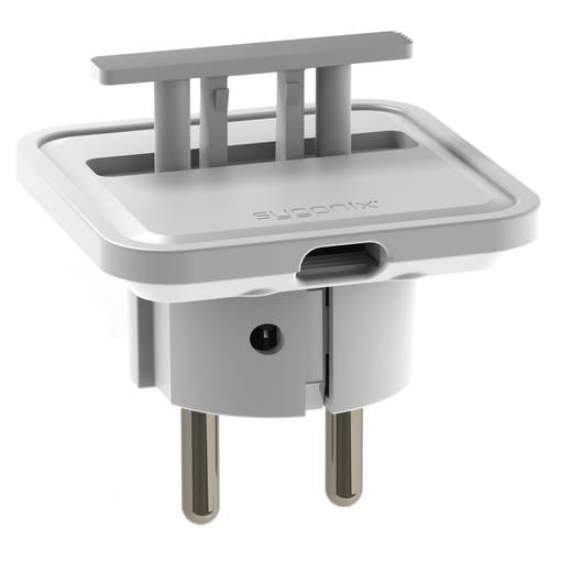 Platte stekker met randaarde 230 V Wit IP20 Sygonix 33986W