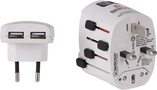 """Reisstekker """"World Adapter Pro USB met USB"""""""