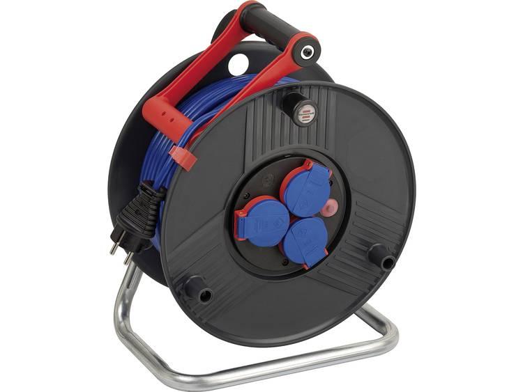 Brennenstuhl kabelhaspel inclusief 50-meter kabel (3 stopcontacten)