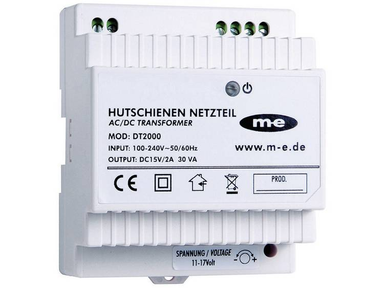 m-e modern-electronics 40778 DIN-rail netvoeding voor Deurintercom Wit