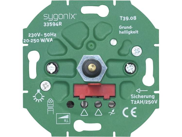 sygonix LED dimmer 20-250 W LED,ohmsche en capacitieve belasting 33594R