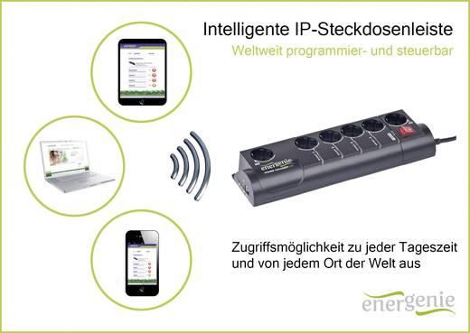 Gembird EG-PM2-LAN IP-stekkerdoos 6-voudig Randaarde stekker Zwart
