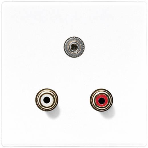 Jung Inbouw Cinch, Jackplug 3,5 mm LS 990, LS design, LS plus Crème-wit MALS1011