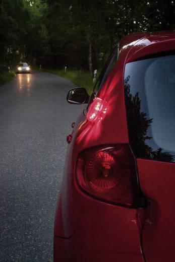 Waarschuwingsknipperlicht 9 LED's werkt op batterijen Magneetbevestiging Rood