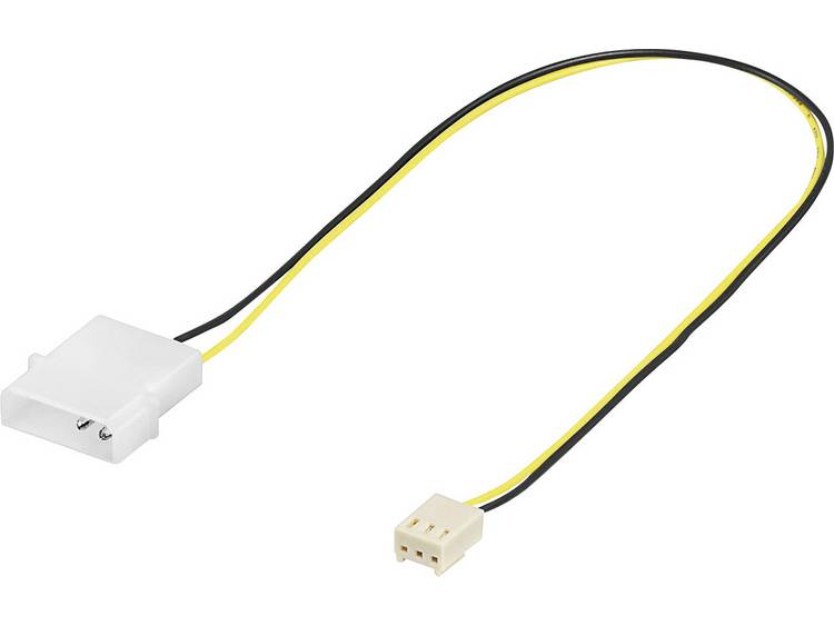 Kabel PC-ventilator [1x PC-ventilator bus 3-polig - 1x IDE-stroombus 4-polig] 0.10 m Zwart, Geel Goobay