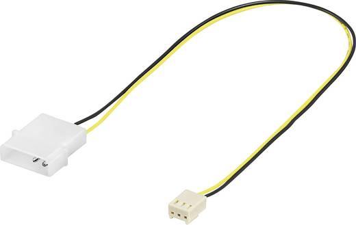 PC-ventilator Aansluitkabel [1x PC-ventilator bus 3-polig - 1x IDE-stroombus 4-polig] 0.10 m Zwart, Geel Goobay