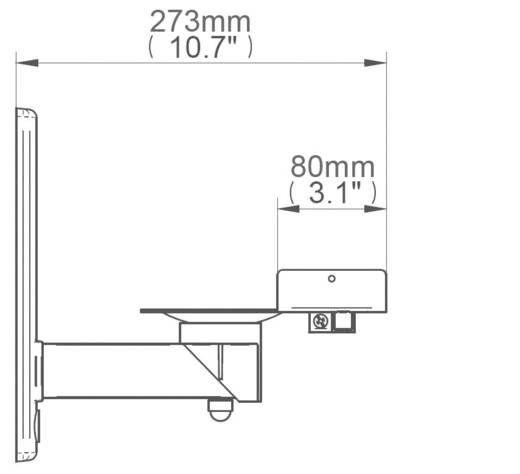 B-Tech BT77 Luidspreker-wandbeugel Kantelbaar, Zwenkbaar Wit 1 paar