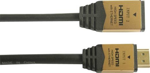 SpeaKa Professional HDMI Aansluitkabel [1x HDMI-stekker - 1x HDMI-stekker, HDMI-bus] 2 m Zwart