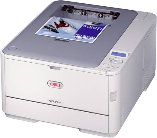 OKI C531dn Kleurenlaserprinter A4 1200 x 600 dpi Duplex, LAN Printsnelheid (zwart): 30 p/min