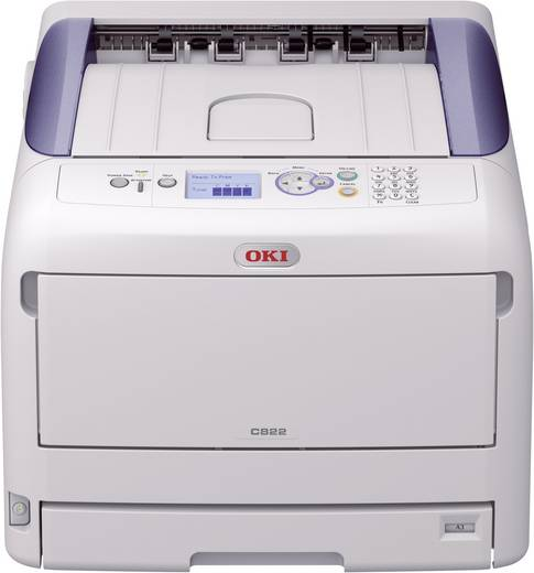 OKI C822dn Kleurenlaserprinter A3 1200 x 600 dpi Duplex, LAN Printsnelheid (zwart): 23 p/min