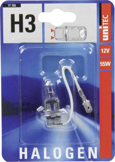 Halogeenlamp Unitec Standard H3 12 V 1 stuks PK22s