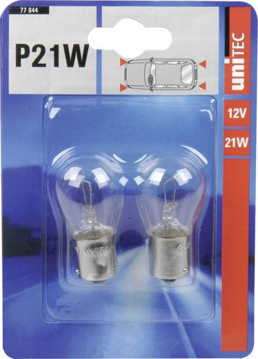 Signaallamp Unitec Standard P21W 12 V 1 paar BA15s