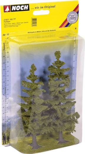 Set bomen Spar Hoogte (min.): 130 mm Hoogte (max.): 145 mm NOCH 21831 Groen 2 stuks