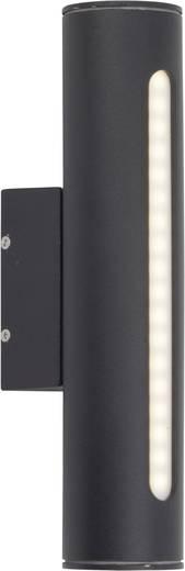 Buiten LED-wandlamp Zwart 3.3 W Brilliant Twin G45280/06