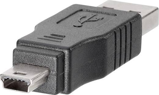 BKL Electronic 10120277 USB-adapter USB-stekker type A naar mini-USB-stekker type B, 5-polig 1 stuks