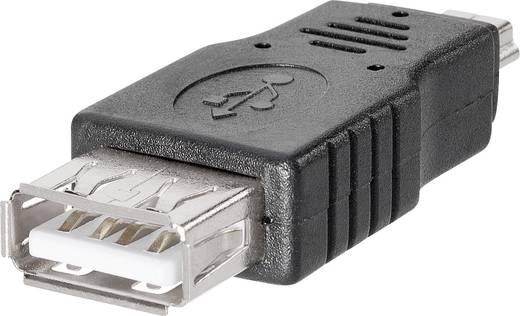 BKL Electronic 10120275 USB-adapter USB-koppeling type A naar mini-USB-stekker type B, 5-polig 1 stuks