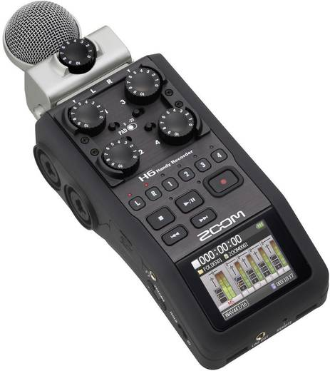 Zoom H6 Pro Mobiele audiorecorder Zwart
