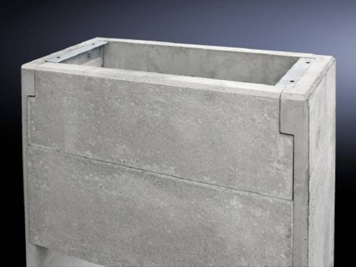 Rittal 9765.087 Betonsocket Licht beton Beton-grijs 1 stuks