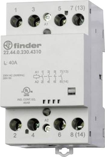 Finder 22.44.0.230.4710 Bescherming 1 stuks 3x NO, 1x NC 230 V/DC, 230 V/AC 40 A