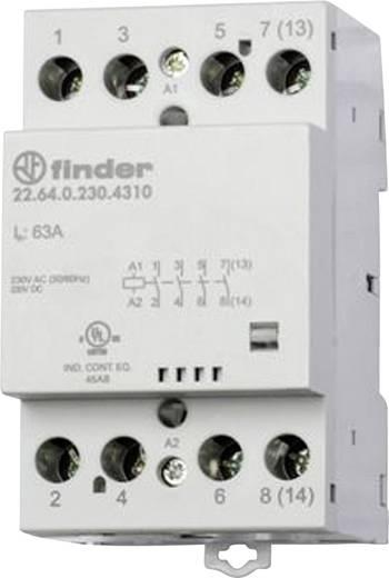 Finder 22.64.0.024.4710 Bescherming 1 stuks 3x NO, 1x NC 24 V/DC, 24 V/AC 63 A
