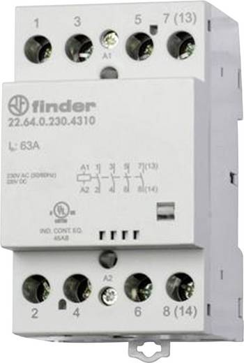 Finder 22.64.0.230.4710 Bescherming 1 stuks 3x NO, 1x NC 230 V/DC, 230 V/AC 63 A