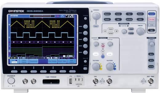 GW Instek GDS-2202A Digitale oscilloscoop 200 MHz 2-kanaals 2 GSa/s 2 Mpts 8 Bit Digitaal geheugen (DSO)
