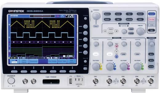 GW Instek GDS-2204A Digitale oscilloscoop 200 MHz 4-kanaals 2 GSa/s 2 Mpts 8 Bit Digitaal geheugen (DSO)