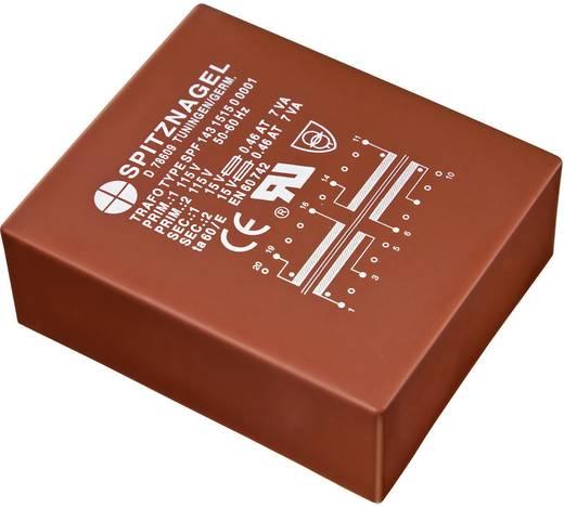 Platte transformator SPF Primair: 2 x 115 V Secundair: 2 x 63 mA 3 VA SPF 0342424 Spitznagel