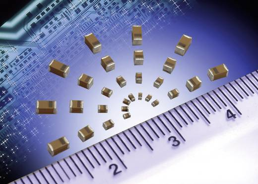 AVX TAJC106K016RNJ Tantaalcondensator SMD 10 µF 16 V/DC 10 % (l x b x h) 6 x 3.2 x 2.6 mm 500 stuks