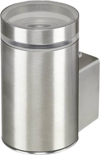 Buitenwandlamp GU10 11 W Basetech Parla ESL-4437 Zilver