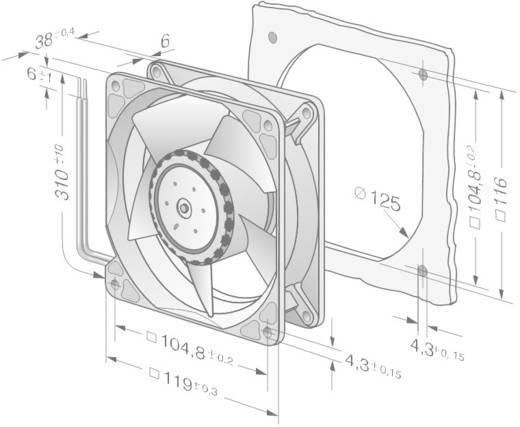 Axiaalventilator 24 V/DC 570 m³/h (l x b x h) 119 x 119 x 38 mm EBM Papst 4114 N/2H8P