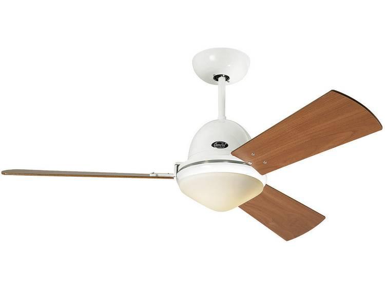 Plafondventilator CasaFan Plafondventilator Libeccio wit (Ø) 142 cm met afstandsbediening, met lampa
