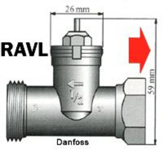 Thermostaatadapter Geschikt voor radiator Danfoss RAVL