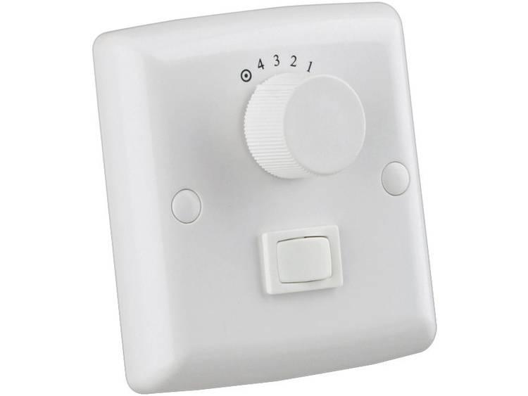 Muurschakelaar voor plafondventilator en licht