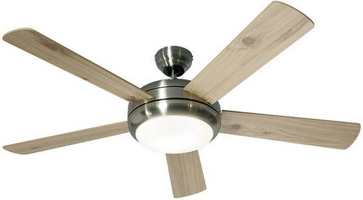 Plafondventilator (Ø) 132 cm omkeerbare bladen, verwisselbare bladen, met wintermodus, met lamparmatuur, met afstandsbediening CasaFan Titanium BN
