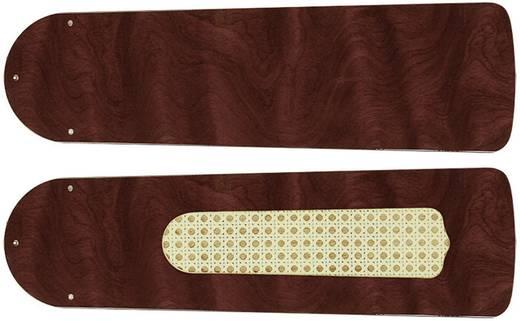 CasaFan Plafondventilator-Bladenset 103 GLANZEND ROZENHOUT Vleugelset voor plafondventilator Vleugeldecor: Rozenhout (glans)