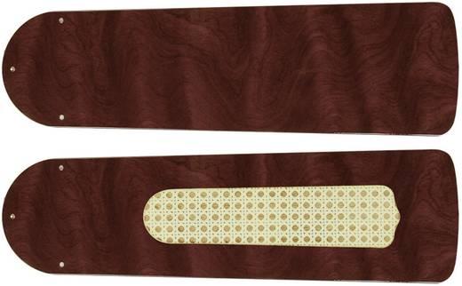 CasaFan Plafondventilator-Bladenset 132 GLANZEND ROZENHOUT Vleugelset voor plafondventilator Vleugeldecor: Rozenhout (glans)