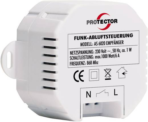 Protector AS 6020 Draadloze afzuigingsbesturing 1000 W Wit, Bruin
