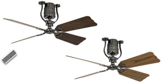 Plafondventilator (Ø) 132 cm met wintermodus, omkeerbare bladen, met afstandsbediening CasaFan Roadhouse 132 ZN 4 bladen in eiken/noten