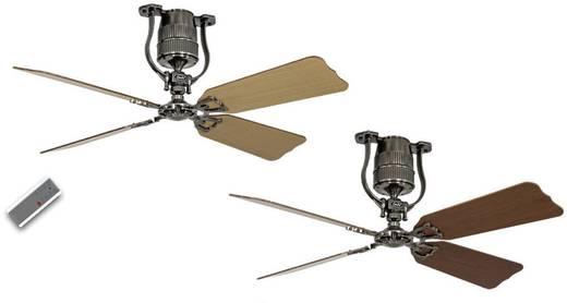 Plafondventilator (Ø) 132 cm met wintermodus, omkeerbare bladen, met afstandsbediening CasaFan Roadhouse 132 ZN 4 bladen in kersen/beuken