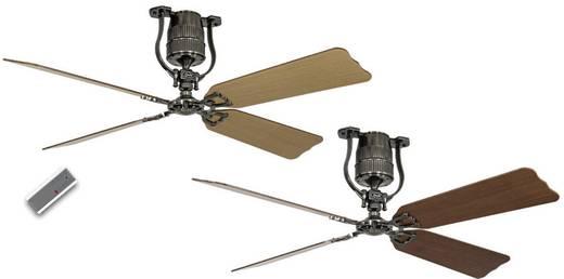 Plafondventilator (Ø) 152 cm met wintermodus, omkeerbare bladen, met afstandsbediening CasaFan Roadhouse 152 ZN 4 bladen in kersen/beuken