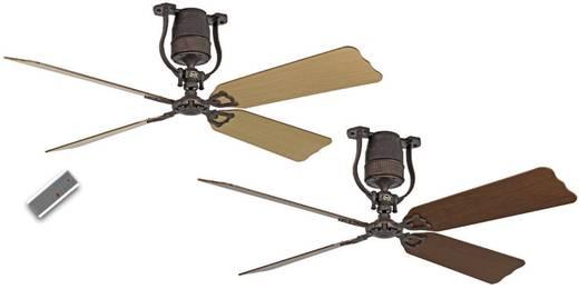 Plafondventilator (Ø) 152 cm met wintermodus, omkeerbare bladen, met afstandsbediening CasaFan Roadhouse 152 BA 4 bladen in kersen/beuken