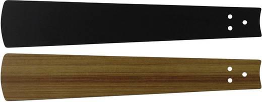CasaFan Bladen zwart/teak 152 Vleugelset voor plafondventilator Vleugeldecor: Zwart, Teak