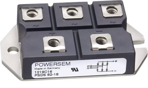 3-fase gelijkrichter POWERSEM PSDS 63-16 Soort behuizing Fig. 23 Nominale stroom 75 A U(RRM) 1600 V