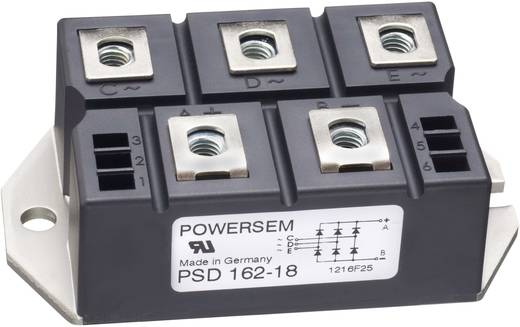 3-fase gelijkrichter POWERSEM PSD 162-14 Soort behuizing Fig. 2 Nominale stroom 175 A U(RRM) 1400 V